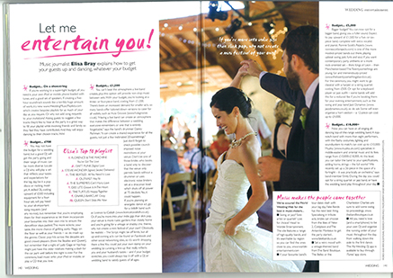 Ronnie Scotts Rejects in Wedding Magazine
